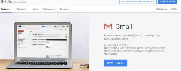 Сервис Gmail